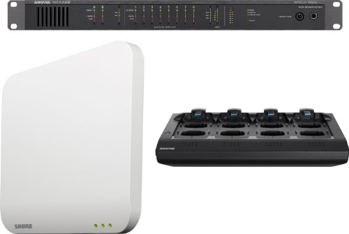 Shure Mxws8 Microflex Wireless 8 Channel Conference Room System Without Transmitters