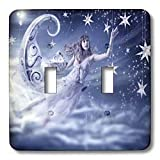 Susan Brown Designs Angels or Fairy Themes - Cure for Insomnia - Light Switch Covers - double toggle switch