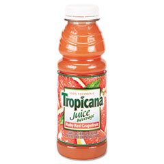 100% Juice, Ruby Red Grapefruit, 10 oz Plastic Bottle, 24 Carton by
