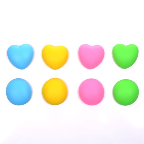 Case Star® 2 Pcs Round-Shape And Heart-Shape Random Color Heavy Duty Silicone Bobbin Winder Wrap Organizers For Earphone/Ear Bud Cord With Case Star Velvet Bag