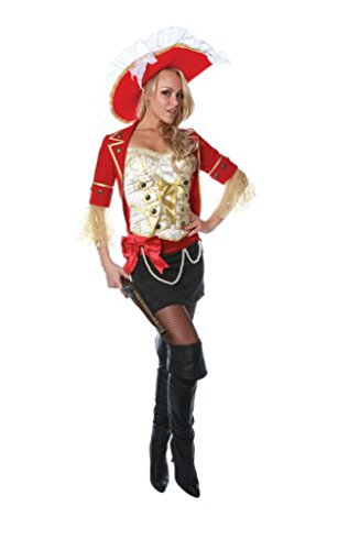 Underwraps Womens Lace Pirate Theme Party Fancy Dress Halloween Costume