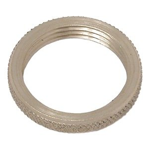 Panel Nut, Round, 1/8-27, Brass, Plain, PK 2