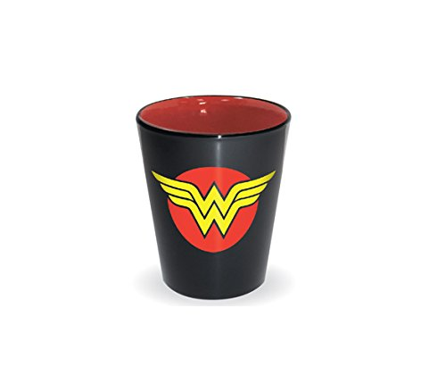 DC Comics Superhero Logo Shot Glass (Wonder Woman)