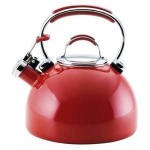 KitchenAid Teakettle 2-Quart Gourmet Essentials Porcelain Enamel Kettle , Red