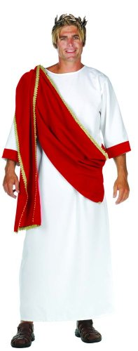 Ceasar The Great Greek Red Drape Costume Robe Adult