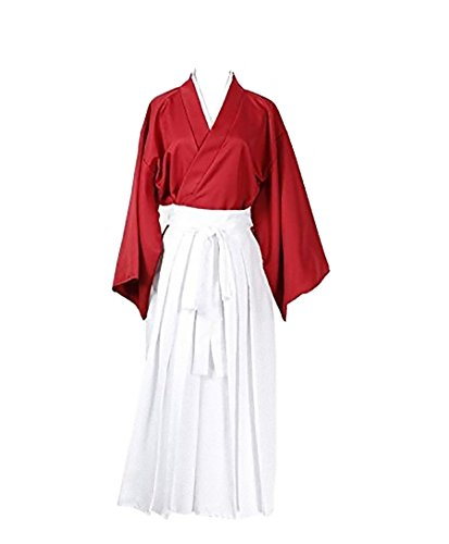 Rurouni Kenshin Style Kimono Hakama Cosplay Costume [ M Size For Men ] Japanese Anime