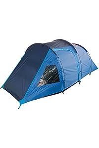 Mountain Warehouse Mini Break Tente 4 Personnes Imperméable Compact Léger Camping Randonnée Bleus One Size