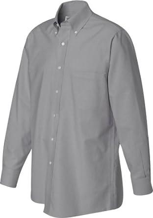 Van Heusen VH56800 Mens L-Sleeve Wri-Resistant Oxford - Dark Grey - S