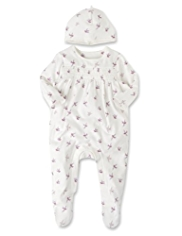 Pure Cotton Bird Sleepsuit with Hat