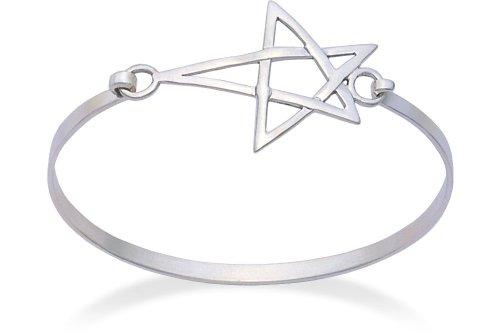 Pentangle apertura-Bracciale in argento Sterling, diametro: 64 mm, diametro 3055, spediti in confezione regalo di alta qualità in argento Sterling di prima classe della posta.