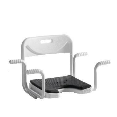 Die Pflegeexperten Premium Badewannensitz mit Lehne - Senioren Wannensitz und Hygieneausschnitt