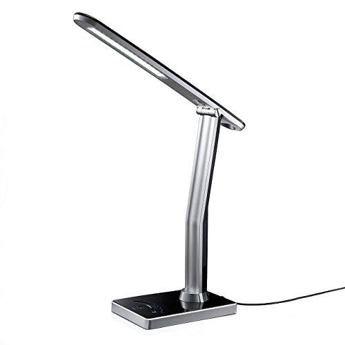サンワダイレクト LEDデスクライト タッチセンサー 4段階調光 時計・カレンダー機能付 ブラック 800-LED011BK