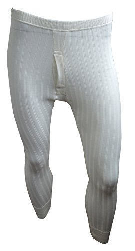 Custode® British Made classica da uomo biancheria intima termica Long Johns Pantalone Lungo Natural Cream Cintola: 140 cm- 145 cm XXXXXL
