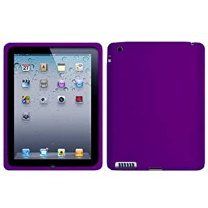 Cbus Wireless Purple Silicone Case / Skin / Cover for Apple iPad 2 / iPad 3 / iPad 4