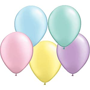 "Qualatex 5"" Round Balloons, Pastel Pearl Assortment - Pack of 100"