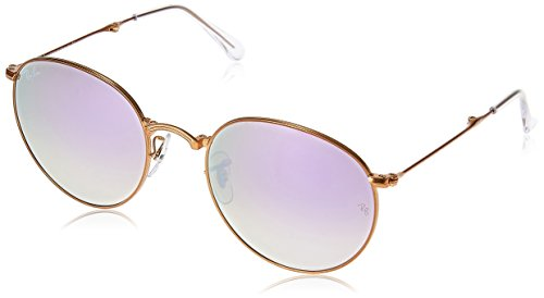 Ray-Ban-METAL-MAN-SUNGLASS-SHINY-BRONZE-Frame-LILAC-FLASH-GRADIENT-Lenses-53mm-Non-Polarized