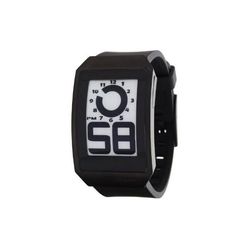 Phosphor フォスファー ユニセックス 男女兼用 DH04 Digital Hour E-INK Curved Black Ion-Plated Polyurethane Band Watch 男性用 メンズ 腕時計 (並行輸入)