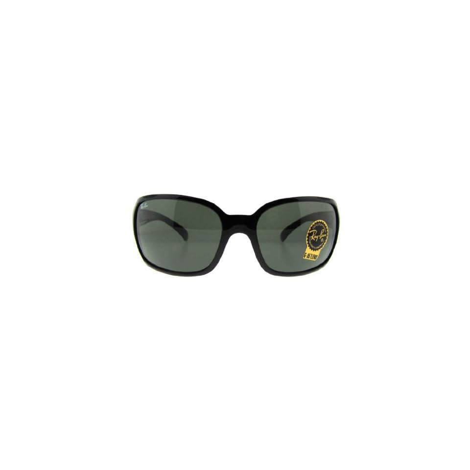 bdd924519f4 Ray Ban RB4068 601 Glossy Black Frame Crystal Green Lens 60mm Sunglasses