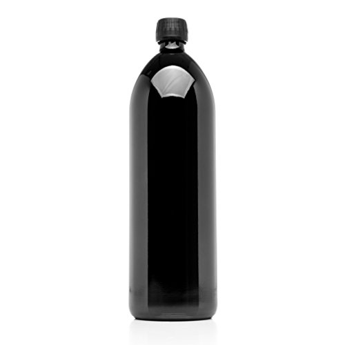 Infinity Jars 1 Liter (34 fl oz) Round Ultraviolet Large Glass Water Bottle (Juice Glasses Black compare prices)