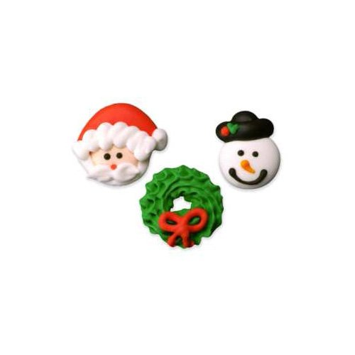 Lucks Royal Icing Decorations Small Christmas Fun Assortment, 110-Pack [Misc.]