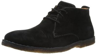 Hush Puppies Desert II, Men's Desert Boots, Black Suede, 8 UK