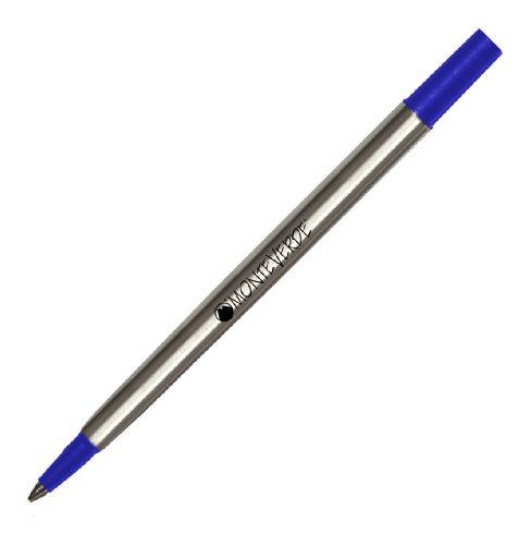 Monteverde Recharge Pointe Fine Compatible Stylos Roller Parker - Bleu (Lot de 2)