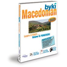 Byki Macedonian Language Tutor Software & Audio Learning CD-ROM for Windows & Mac