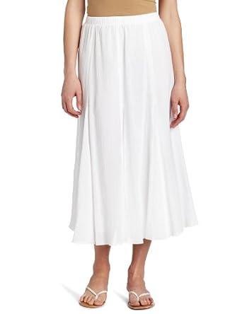 alfred dunner s gauze skirt white 14 at