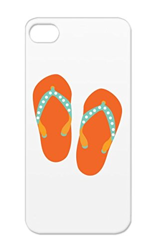 Beach Summer Sun Footwear Flipflips Sandals Wear Slippers Fun Family Children Kids Womens Girls Girl Baby Family Bronze Case For Iphone 5/5S Shockproof Hello Flip Flops front-595986