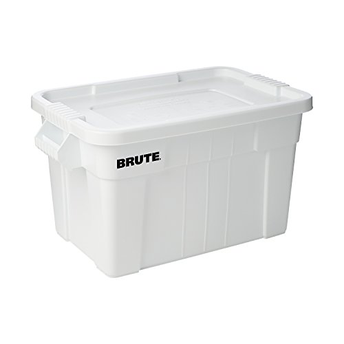 Rubbermaid Commercial Brute Tote with Lid, 20-Gallon Capacity, White (RUB118) (Rubbermaid Spatula 1933 compare prices)