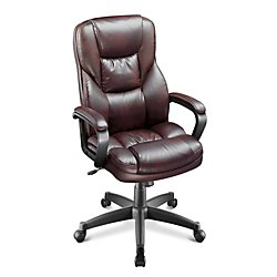 Amazon.com - Realspace(R) Fosner High-Back Bonded Leather ...