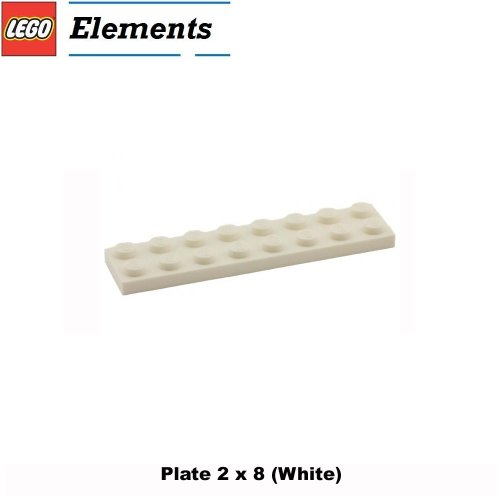 Lego Parts: Plate 2 x 8 (White) (Lego Building Plate White compare prices)