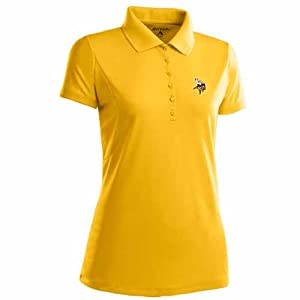 Minnesota Vikings Ladies Pique Xtra Lite Polo Shirt (Alternate Color) by Antigua