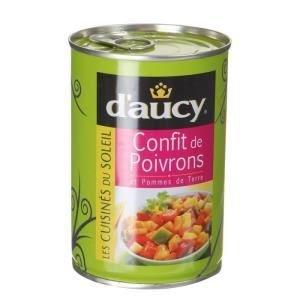 D'aucy, Confit de poivrons, la boite de 425 gr