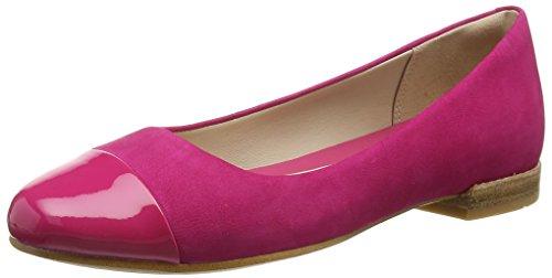 ClarksFestival Gold - Mocassini Donna , Rosa (Pink (Fuchsia Nubuck Combi)), 39