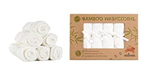 Premium Bamboo Baby Washcloths - Extra Soft Baby Bath Towels (6-Pack) - Ideal Organic Reusable Wipes - Perfect Baby Registry Gift