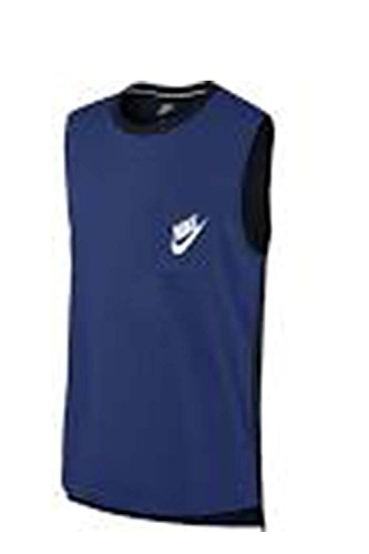 Womens Nike Signal Muscle Tank (Large, Deep Royal Blue/Black/White)