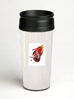 16 oz. Double Wall Insulated Tumbler with mountain bike - flames - Paper Insert