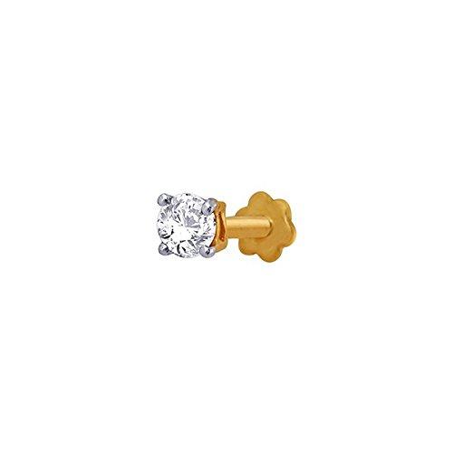 Sangini Sangini 18K Yellow Gold Diamond Nose Ring (Multicolor)