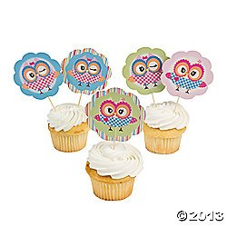 You're A Hoot Picks - Tableware & Party Straws & Picks by
