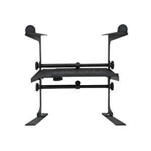 Stage Rocker Powered by Hamilton SR100001 DJ Stand – Black Powder Coated