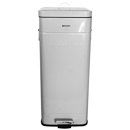 bentley-home-30l-steel-square-retro-kitchen-pedal-rusbbish-waste-bin-grey-more-colours-available