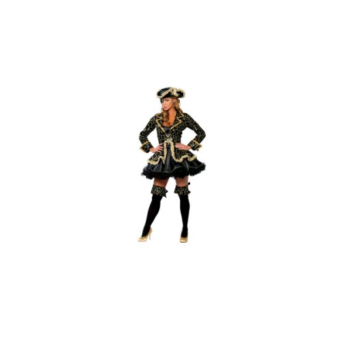 Womens Adult Halloween Costumes Pirate Buccaneer Swashbuckler Dress Deluxe Party Outfit Costume Roma By Fenvy Medium/Large