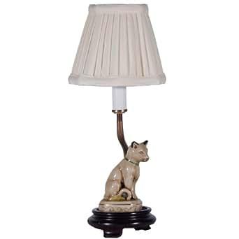 Small Porcelain Cat Accent Table Lamp Ceramic Cat Lamp