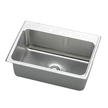 "Elkay DLR312212X 18 Gauge Stainless Steel 31"" x 22"" x 11.625"" Single Bowl Top Mount Kitchen Sink"