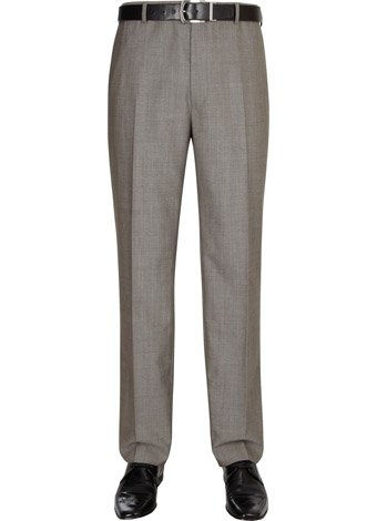 Austin Reed Contemporary Fit Beige Pindot Trousers REGULAR MENS 32