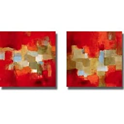 Downtown Rain I & II by Lanie Loreth 2-pc Premium Stretched Canvas Set (Ready to Hang)