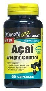 Mason Natural Acai Weight Control Dietary Supplement Capsules, 60 Ea