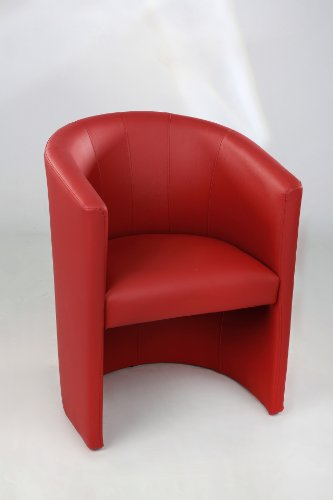 Design-Cocktailsessel-Sessel-Clubsessel-Loungesessel-Club-Mbel-Brosessel-Praxismbel-rot
