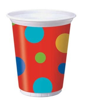 Coordinating Plastic Party Cups 8ct - 1